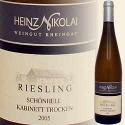 Hallgartener Schönhell, Riesling Kabinett trocken (Heinz Nikolai)
