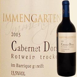 Cabernet Dorsa, Sieger Deutscher Rotweinpreis 2005! (Immengartenhof)