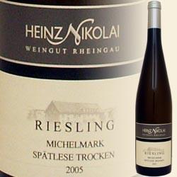 Riesling Filetstück (ehem. Spätlese) trocken, Erbacher Michelmark (Heinz Nikolai)