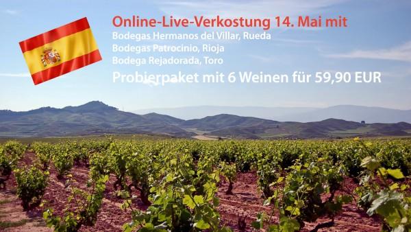 Probierpaket zum Online-Tasting Spanien am 14.5.2021