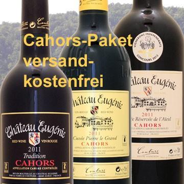 Cahors Probierpaket mit 6 Flaschen frei Haus! (Chateau Eugenie)